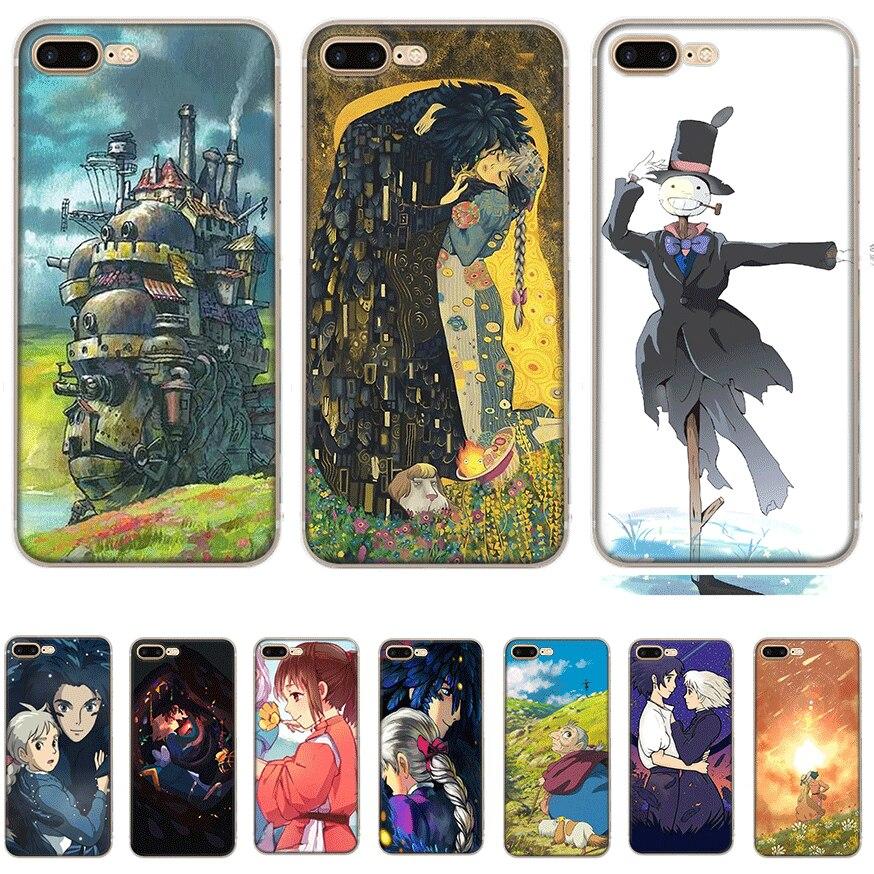 Чехол для мобильного телефона iPhone Apple XR X XS Max 6 6s 7 8 P Lus 5 5S SE Shell Howl's Howls движущийся замок Защита Мода