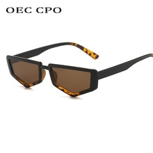 OEC CPO Cat Eye Sunglasses Women Brand Desginer Vintage Flat Top Square Sun glasses Men Female High