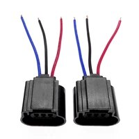 2pcs h13 female connector cable socket wiring harness adapters headlight bulb holder car lamp plug wiring connector accessories