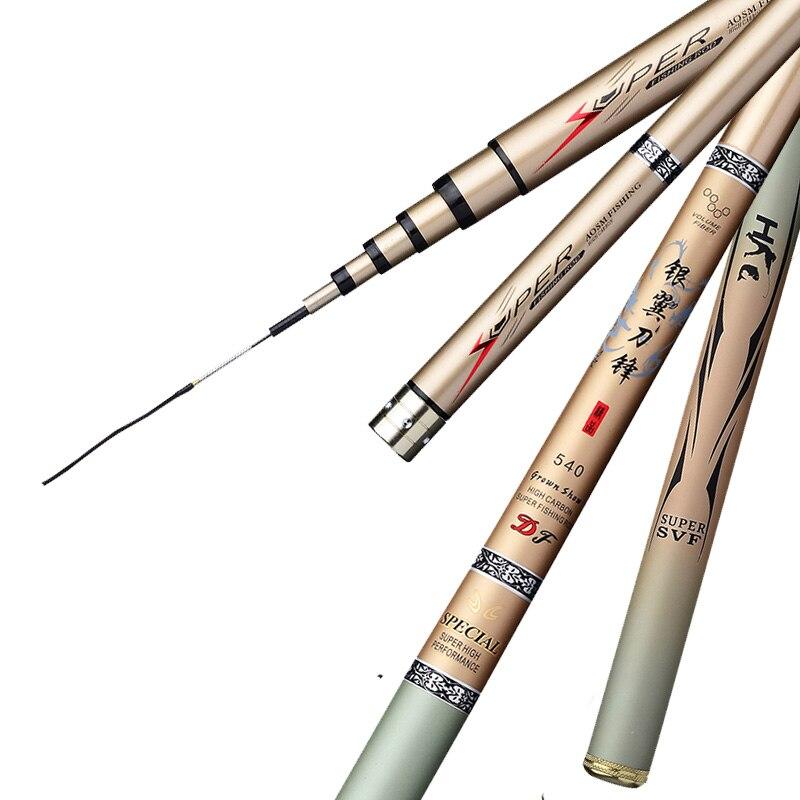 AliExpress - Quality Super Light Hard Carbon Fiber Telescopic Fishing Rod Freshwater Hand Pole 2.7/3.6/3.9/4.5/5.4/6.3/7/8/9/10M Stream Pole