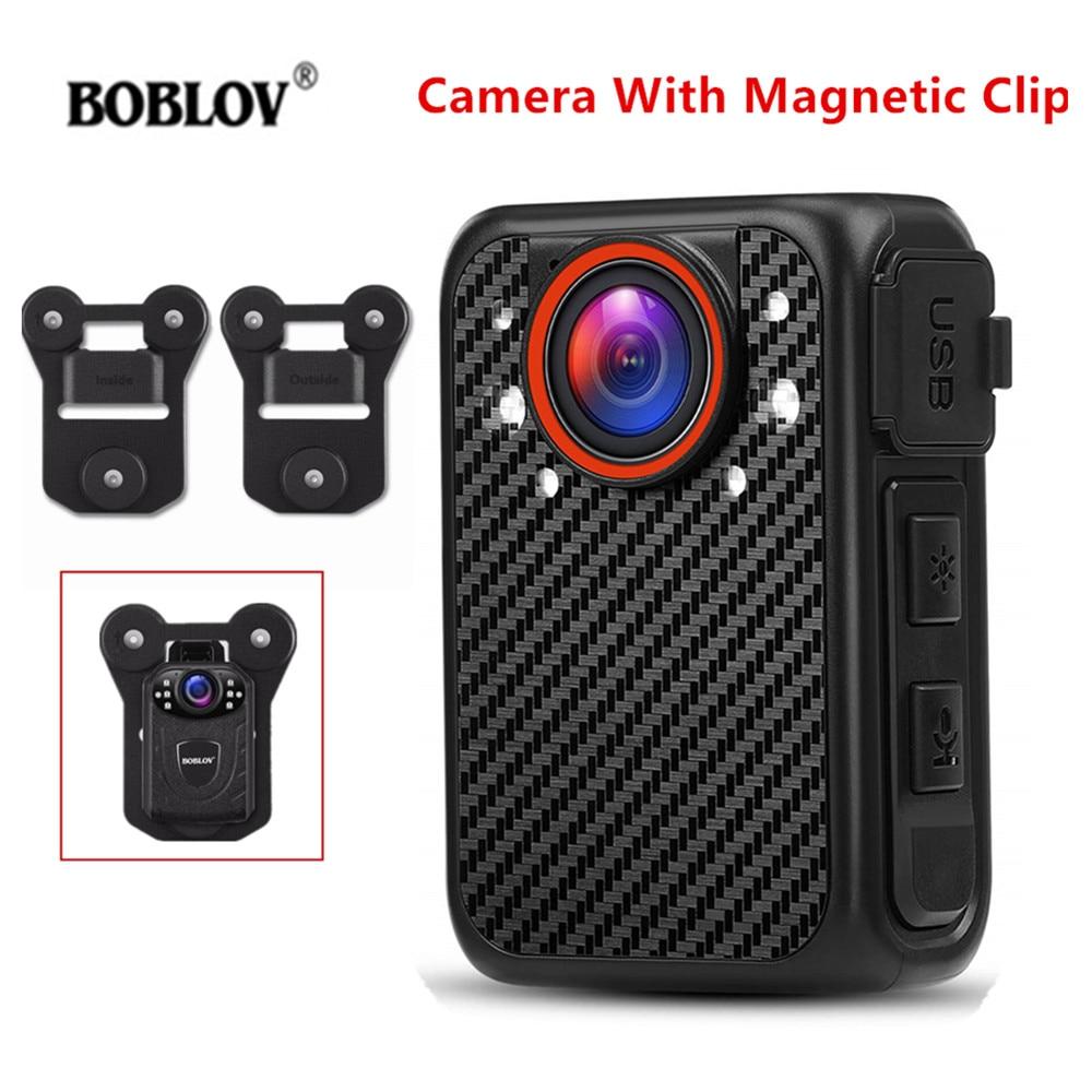 BOBLOV X1 1080P Body Camera Audio Recording Wearable Police Camera Magnetic Clip Cam Night Vision Loop Recording DVR Mini camera