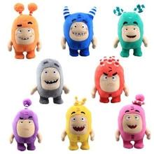 New Hot Sale 18cm Oddbods Cartoon Plush Toys Cute Soft Fuse Pogo Bubbles Slick Zeke Jeff Plush Doll