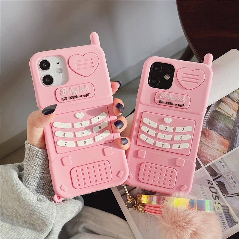 Cute Pink love heart kid girl gift Case For Xiaomi Redmi 10 9 8 Lite CC9 5X 6X A2 10X 8A K30 K20 Not