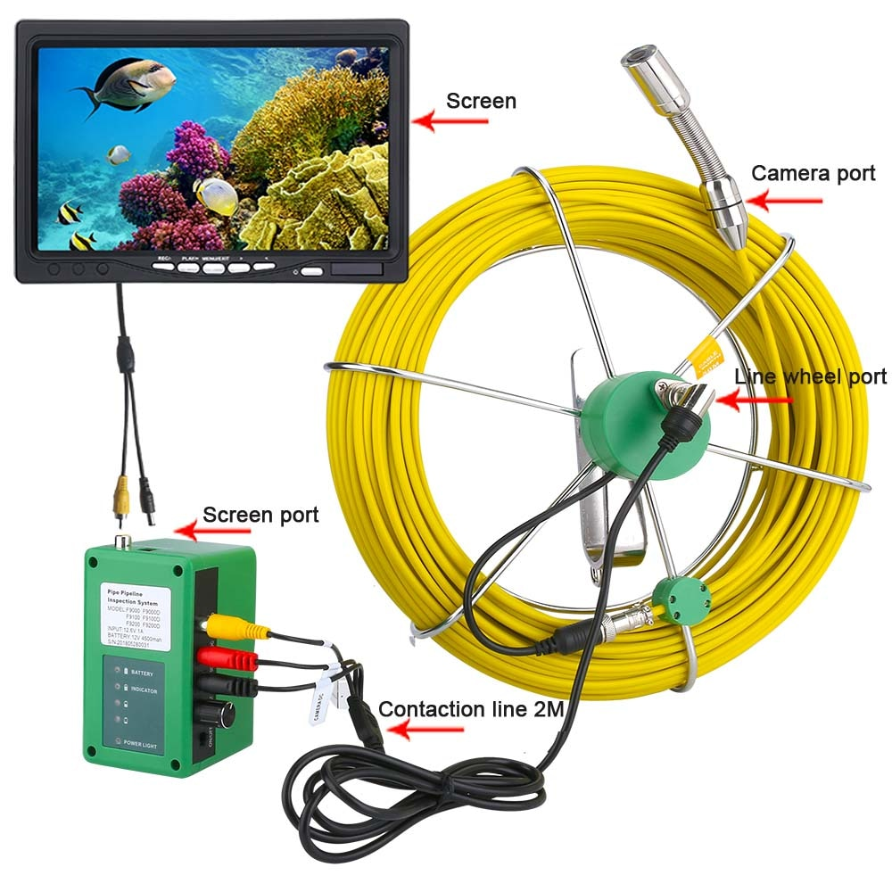Industrial Drain Sewer Pipe Inspection Video Camera Endoscope 7