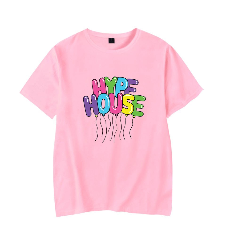 The Hype House Tshrit Charli DAmelio camiseta mujeres/hombres impresión de gran tamaño o-cuello de manga corta de las mujeres de moda camiseta verano Tops