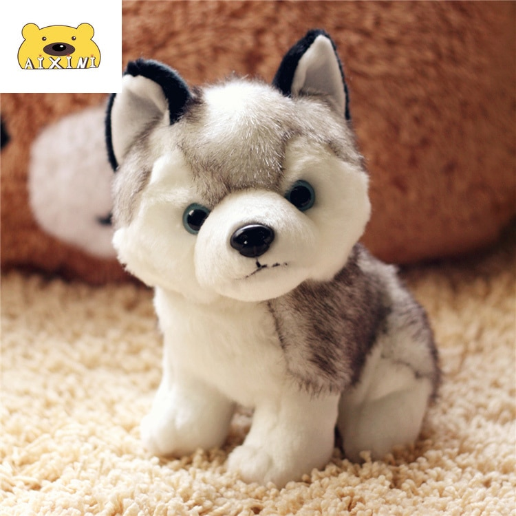 Cachorro juguetes de peluche Husky animales de peluche Kawaii almohada perro de...