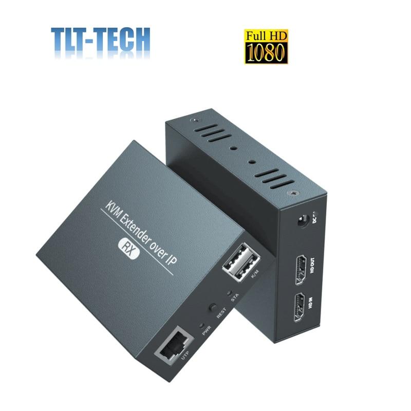 2021 HDMI KVM Extender Over IP RJ45 Ethernet Network KVM Extender USB HDMI 200M Over UTP/STP KVM Extender CAT5 CAT6