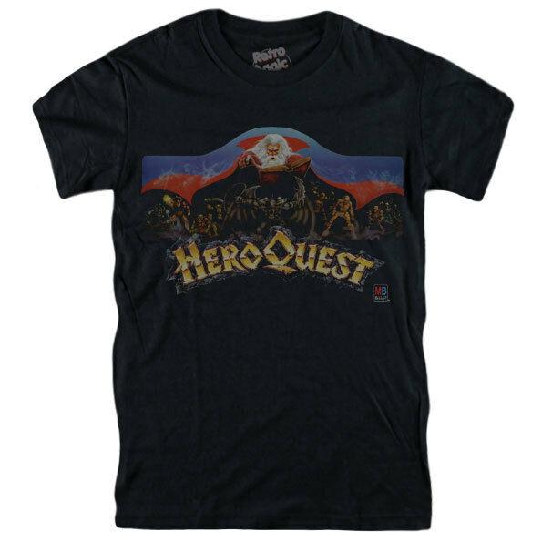 Herói quest t camisa mb jogo de tabuleiro 1989 vintage