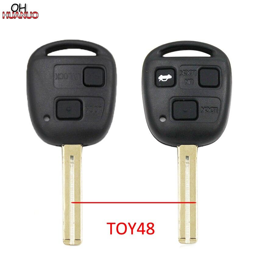 2/3 кнопки дистанционного ключа автомобиля чехол для Lexus RX300 LS400 LS430 ES330 SC430 IS300 LX470 RX330 RX350 GS300 TOY48