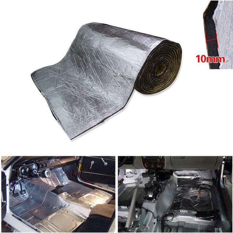 1PCS 5mm/10mm Car Truck Firewall Heat Sound Insulation Mat Sound Noise Insulation Heat Sound Thermal Proofing Pad 50*100cm New