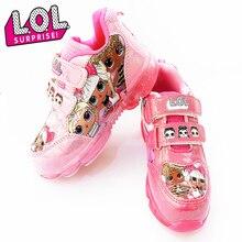 LOL Surprise poupées originales femmes chaussures de Sport filles LED dessin animé mode décontracté antidérapant baskets enfants cadeaux danniversaire 2S71