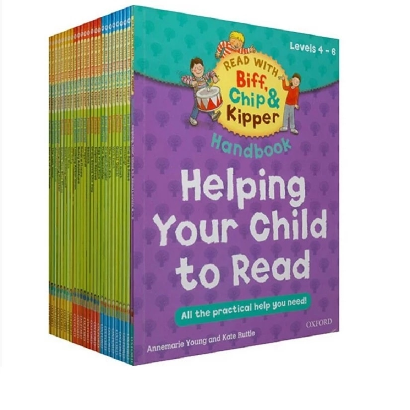 1 Set 25 Books 4-6 Level Oxford Reading Tree Biff,Chip&Kipper Practical Kids English Picture Book Educational for Children biff chip and kipper alphabet games stages 1 3