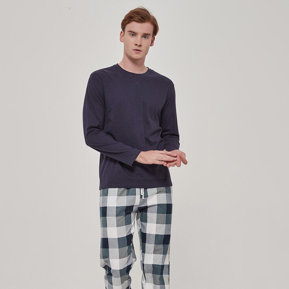 Pimpamtex-pijamas de flanela masculinos  manga comprida  compridas-pijamas de inverno masculinos