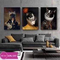 Toile de decoration de noel  peinture danimaux  affiches Vintage de chien  tableau dart mural pour decoration de salon  decoration de maison