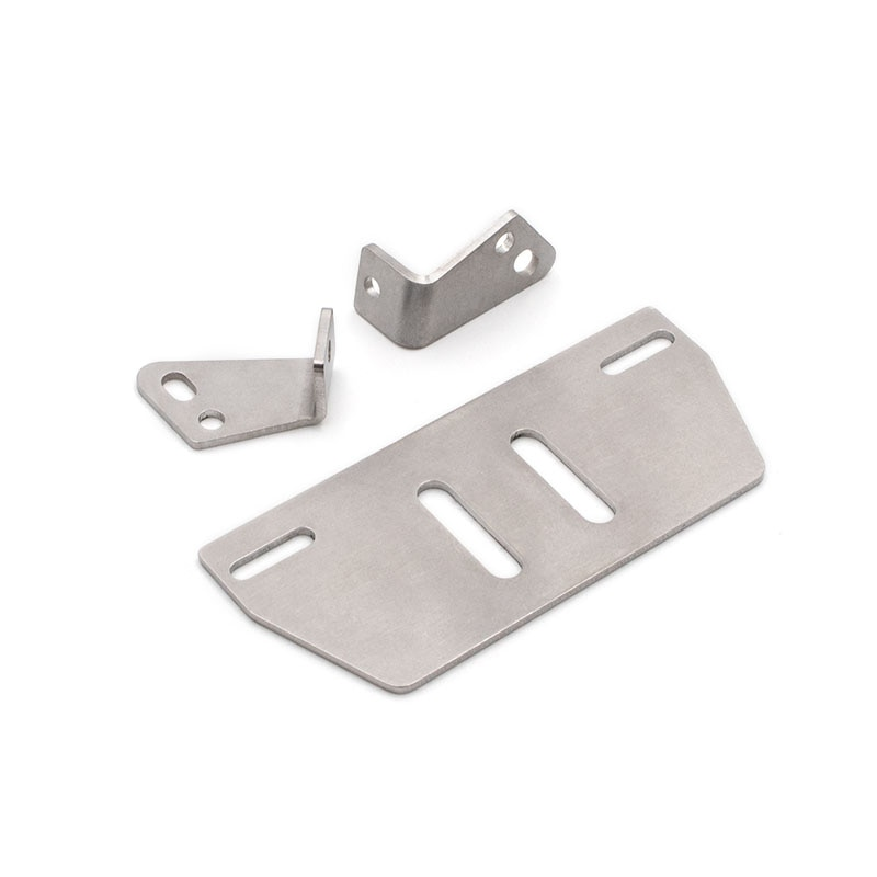 Front stainless steel guard plate 66-82mm adjustable width beam For 1/10 RC Crawler Car Traxxas TRX4 Axial SCX10 90046 900467 enlarge