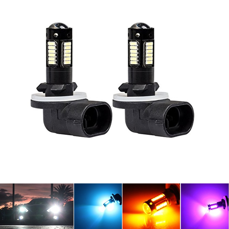2PC White 30-SMD 4014 880 881 889 H27 LED Replacement Bulbs For Car Fog Lights,car DRL Lamps,12V Car
