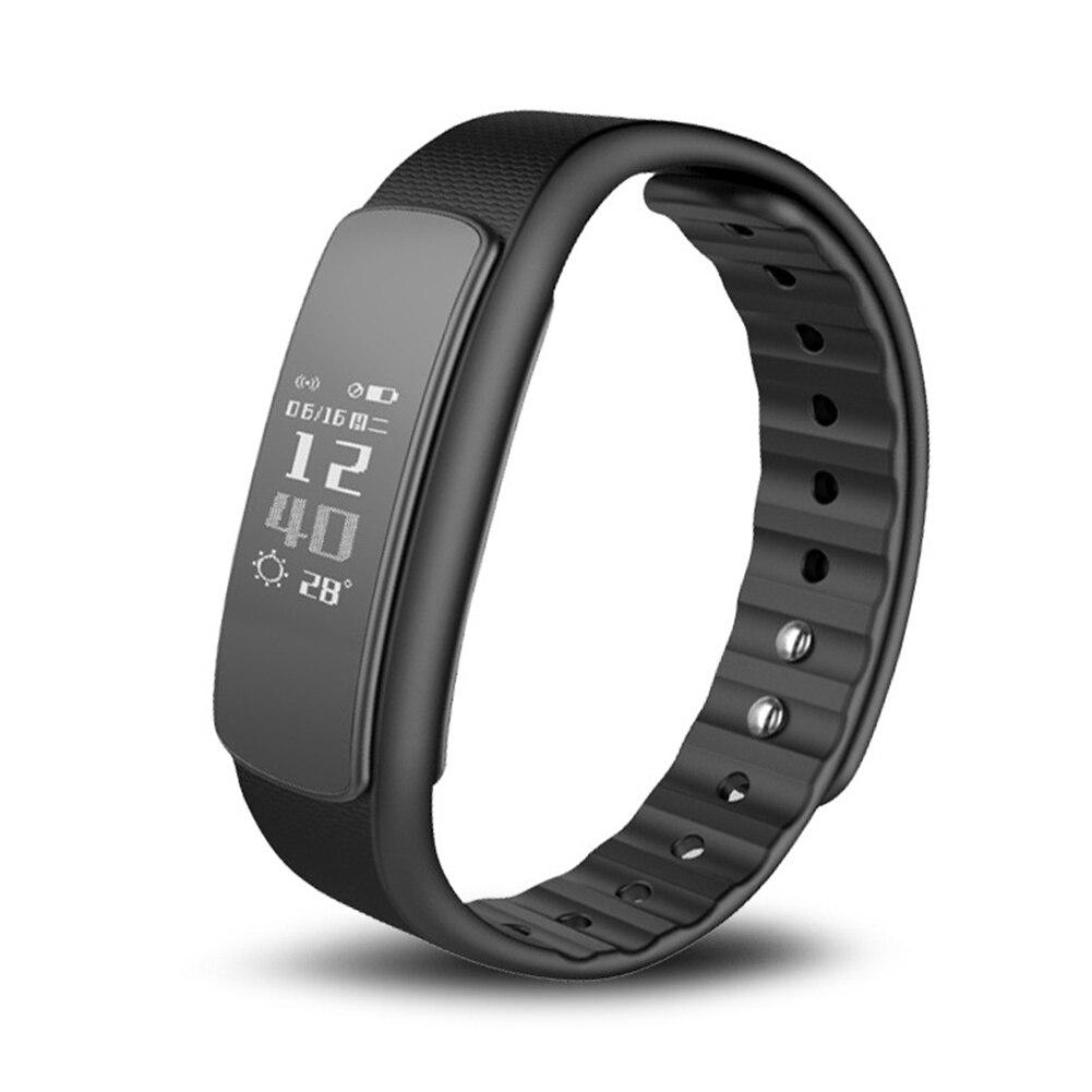 I6 HR Monitor de ritmo cardíaco pulsera inteligente pulsera deportiva Bluetooth 4,0 pulsera inteligente rastreador de Fitness para IOS Android