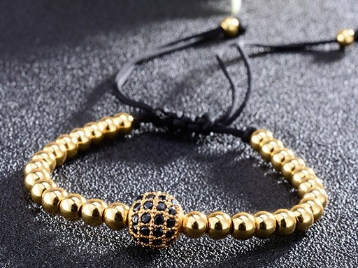 8mm jrt44 plata oro cobre micro pave cz zirconia cúbica pulsera ajustada macramé encanto trenzado cuerda brazaletes