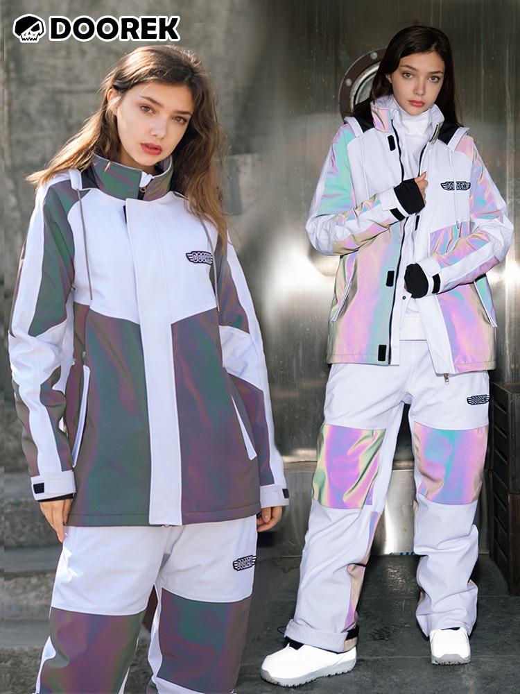 2021 دوريك الفطر رئيس تزلج دعوى الغراء الضغط الكامل المهنية اللون مطابقة عاكسة الرجال والنساء ماركة الموضة الغناء