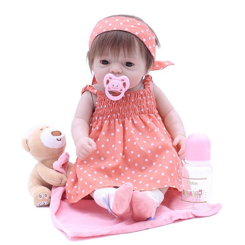 Boneca bebê bonito de 20 polegadas, 50cm, silicone macio, renascido de brinquedo menino ou menina, boneca para crianças boneca RD50Z040G-OTD,