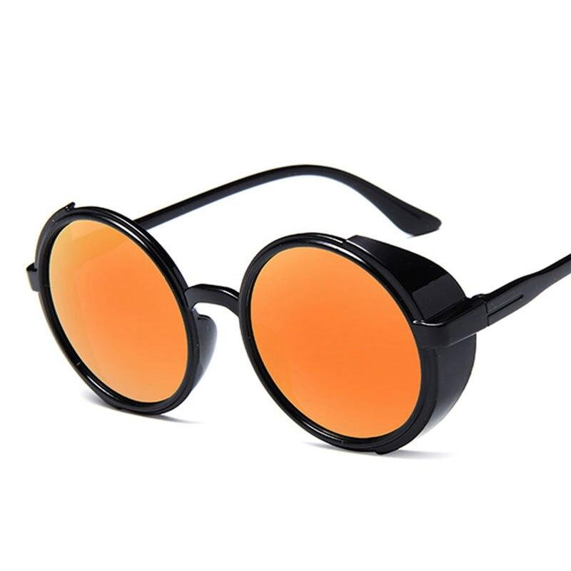 Nuevas gafas de sol para mujer, gafas de sol Retro con montura redonda Steampunk, gafas personalizadas de moda 2019