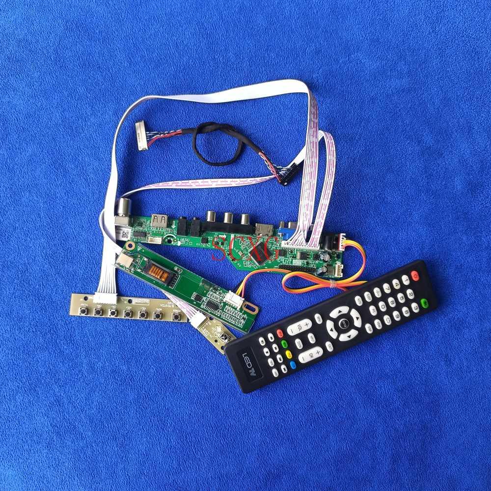 HDMI متوافق USB AV VGA التناظرية LVDS 30 دبوس 1024*768 عدة ل N141X7/N141X9/N141XA/N141XB/N141XC شاشات كريستال بلورية محرك المجلس 1-CCFL