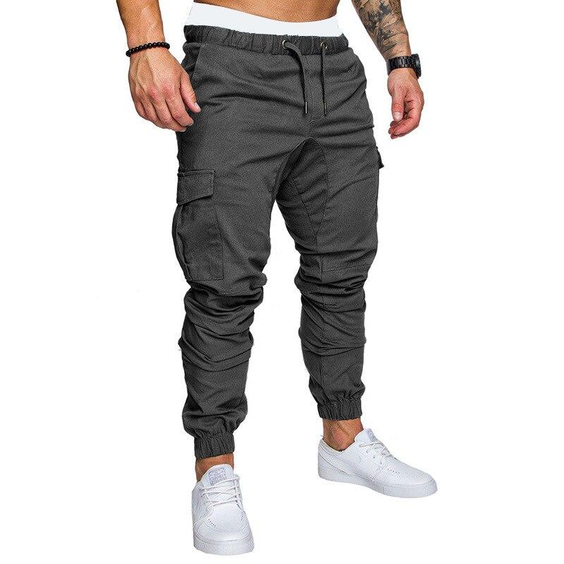 Брюки мужские в стиле хип-хоп, джоггеры, брюки-карго, мужские джоггеры, однотонные мужские брюки с несколькими карманами, M-3XL, 2021