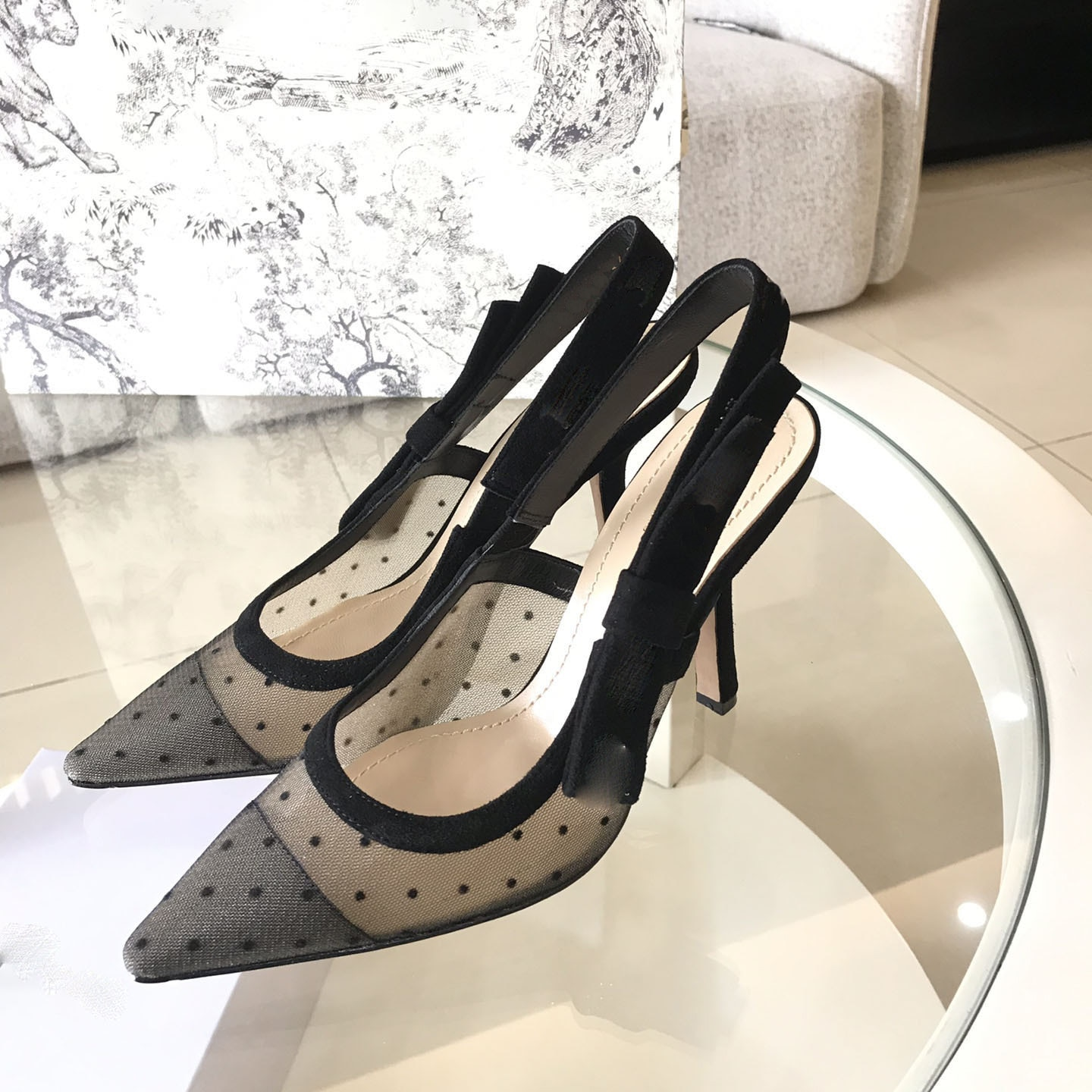 High heeled sandals Gladiator Leather Women Fine heel shoes Flat bottom Fashion sexy letter cloth woman Large size 35-42 enlarge