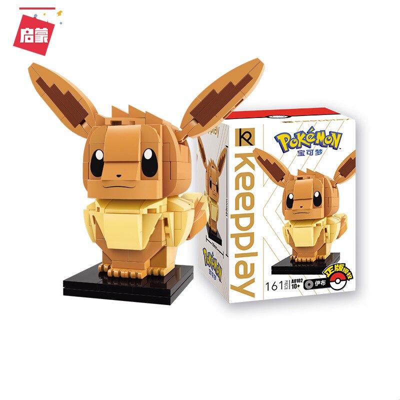 Nuevo Brickheadz A0102 Charmander bloques de construcción Pokemon emonedly Eevee Mini figuras Pikach Psyducked Headz juguetes para la colección