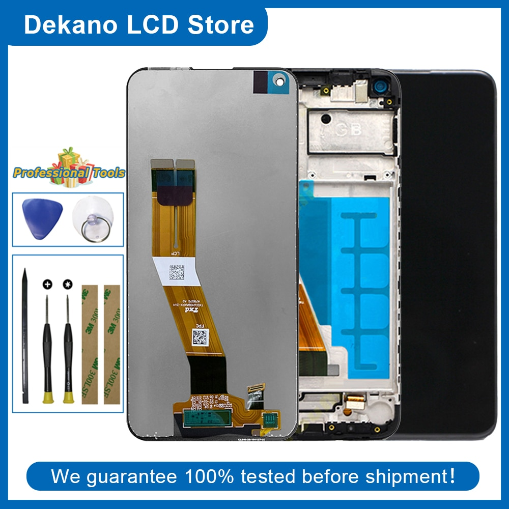 Original For Samsung Galaxy A11 2020 A115 157.5mm LCD Display Touch Screen Digitizer Assembly + Fram