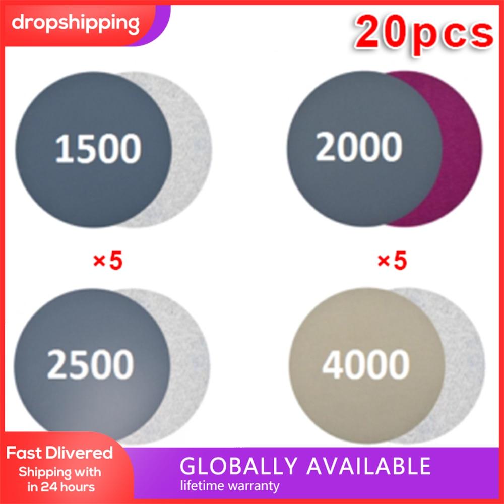 20 шт., Алмазные полировальные диски, 3 дюйма, 1500-4000 Грит