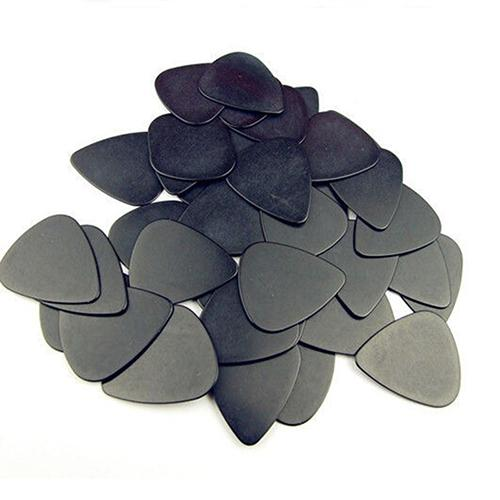 10 piezas de púas de guitarra de 0,5mm, accesorios musicales, guitarra de celuloide negra, púas para guitarra