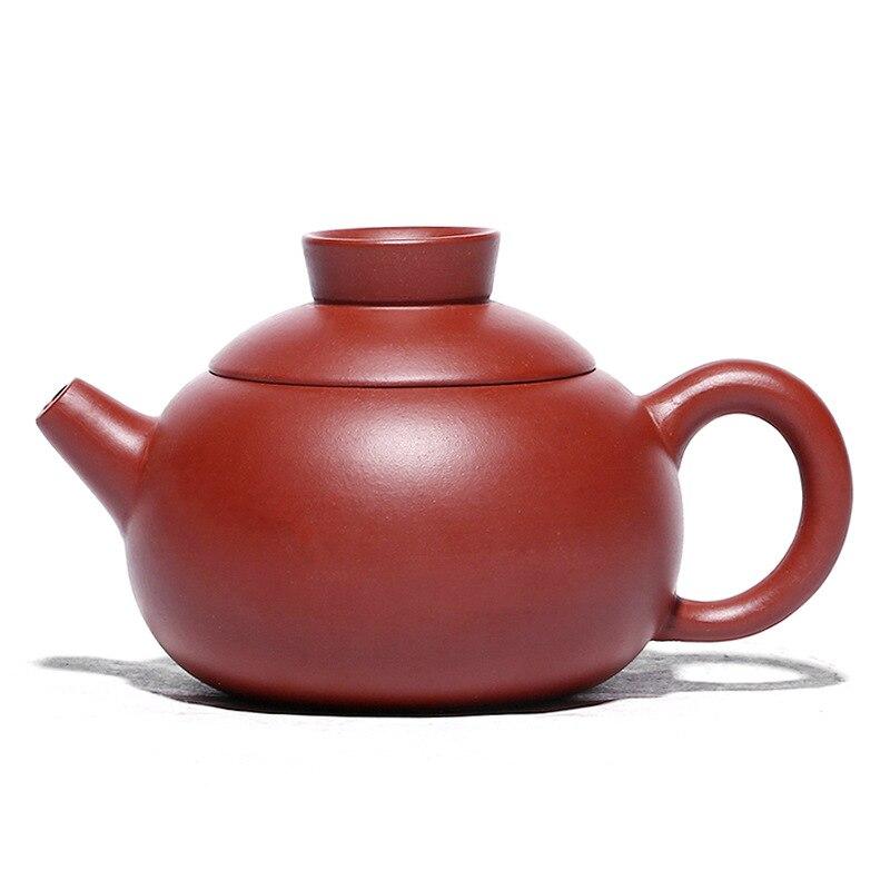 Dahongpao الشاي موزع الكرة حفرة معرض Xishi وعاء Zisha إبريق الشاي ييشينغ اليدوية وعاء الكونغ فو teبينة الأرجواني الطين درينكوير