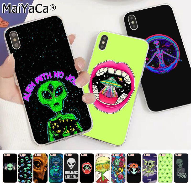 Чехол для телефона MaiYaCa Trippy Tie Dye Peace Alien высокого качества для Apple iphone 11 pro 8 7 66S Plus X XS MAX 5S SE XR