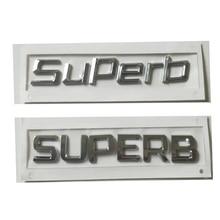 Nueva tapa de maletero trasero 3D ABS letra pegatina alfabeto calcomanía carácter emblema para Skoda SUPERB 3T0 853 687 3T0853687 estilo de coche
