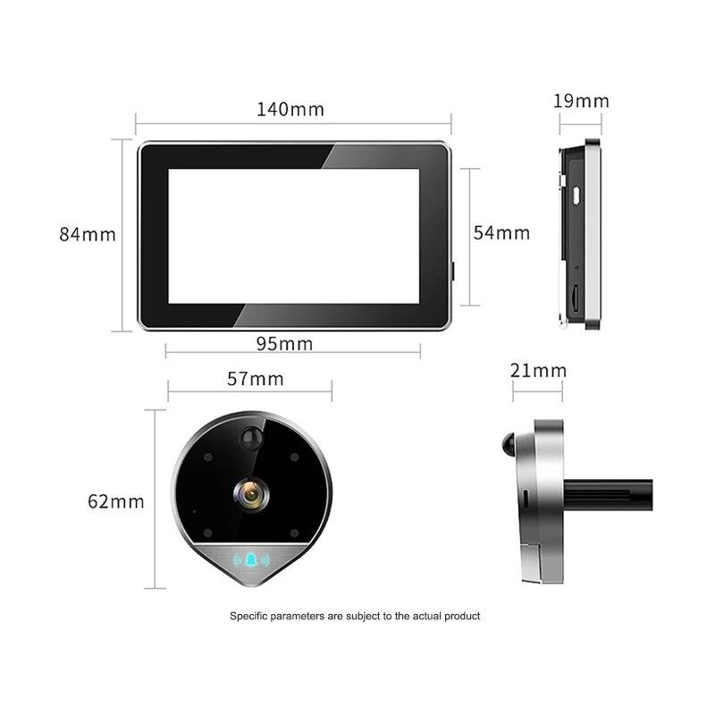 1080P HD WIFI Video Peephole Doorbell with 4.3