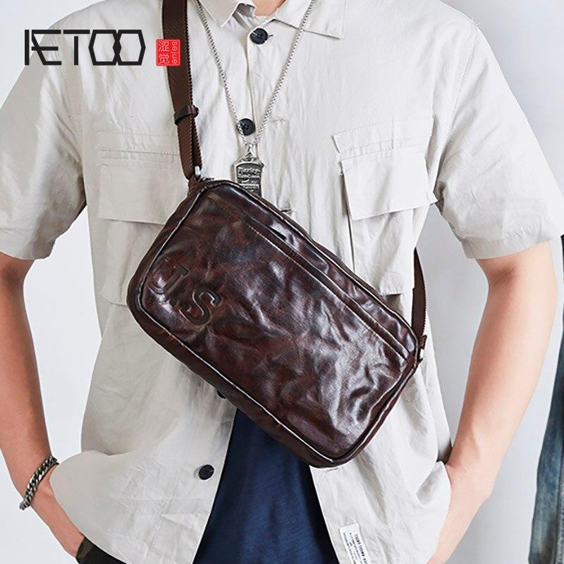 AETOO حقيبة ساعي جلد رجالية, الكل مباراة حقيبة كتف جلد, أفقي عصري ريترو حقيبة رجالية
