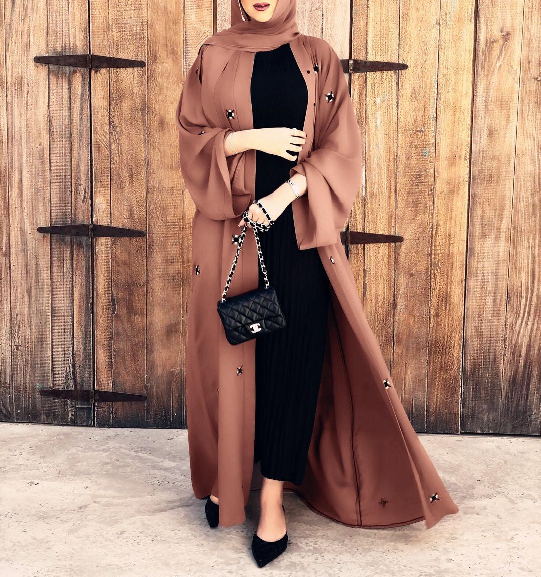 رمضان قفطان دبي عباية كيمونو كارديجان مسلم الحجاب فستان قفطان Marocain فساتين عبايات للنساء تركيا الإسلام الملابس