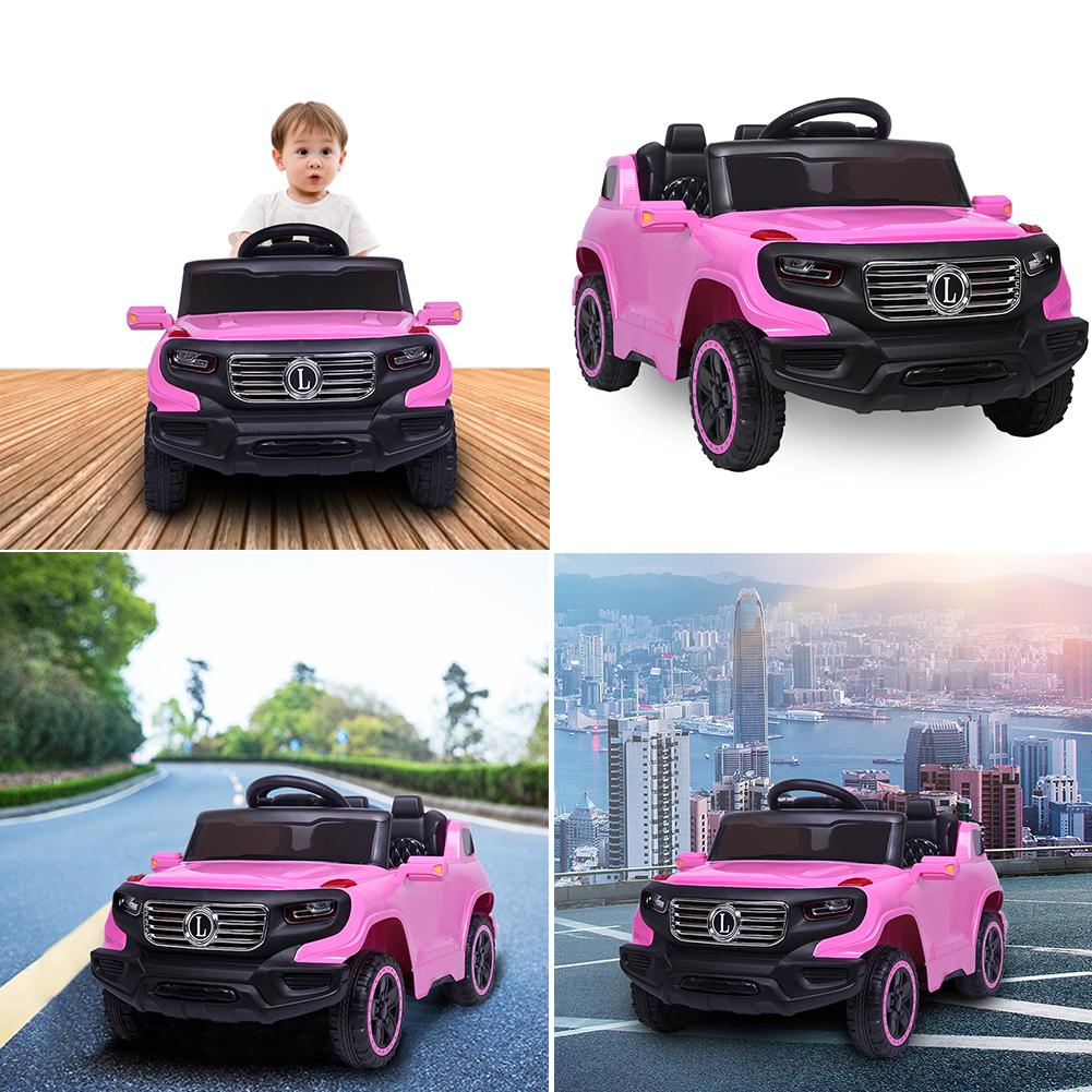 Pink Automatic Four-wheel Electric Car Remote Control Toy with LED Light Big Foot Remote Control Truck Toy