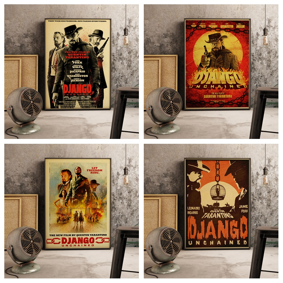 quentin-tarantino-series-movie-django-unchained-poster-canvas-paper-art-wall-paper-home-room-decoration-painting-wall-decor-a642