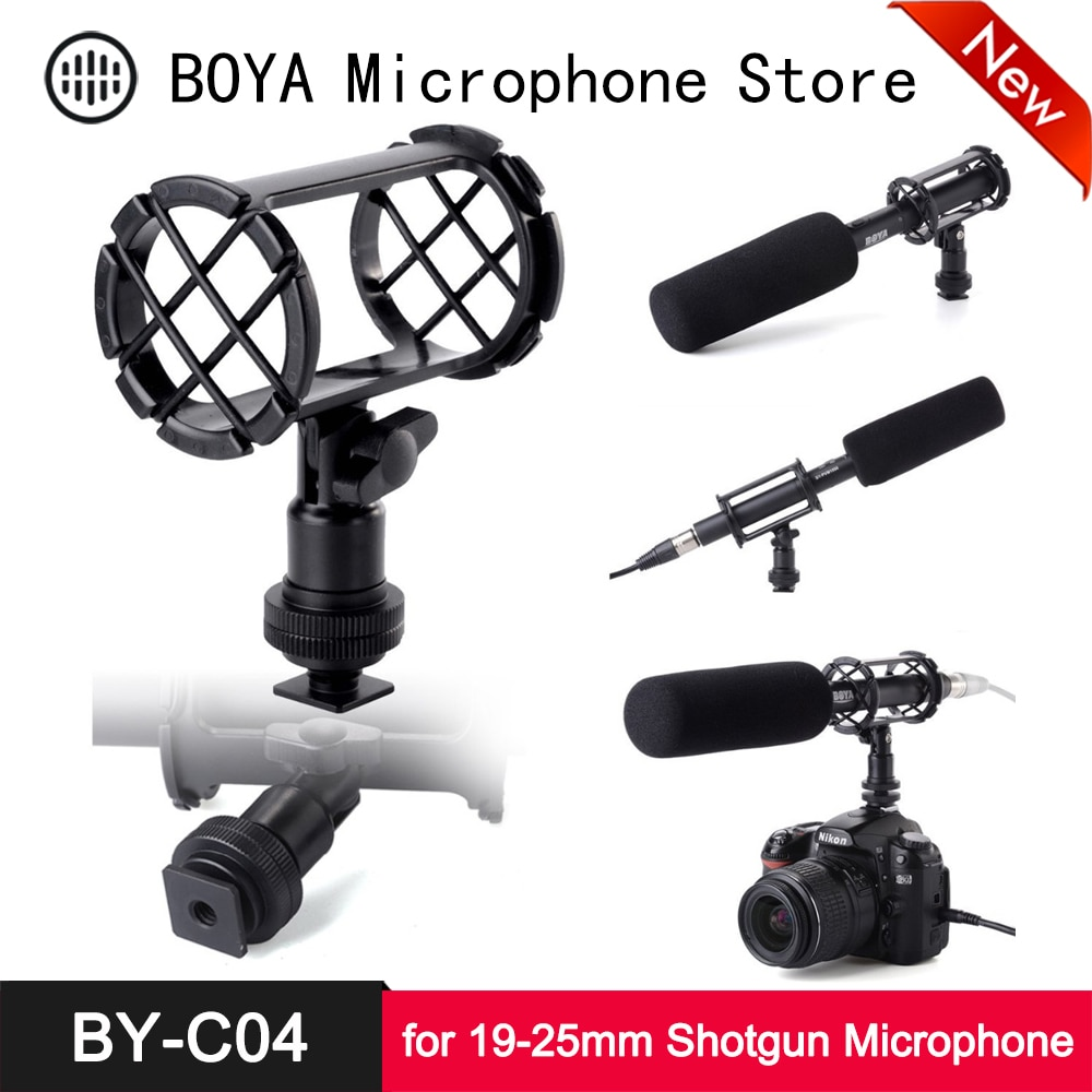 BOYA BY-C04 амортизатор для микрофона для Rode NTG-1 NTG-2 NTG-3 NTG-4 Sony ECM-CG50 AT897 ATR6550 MKH-416 ME66/K6 MKE-600 SGM-1X