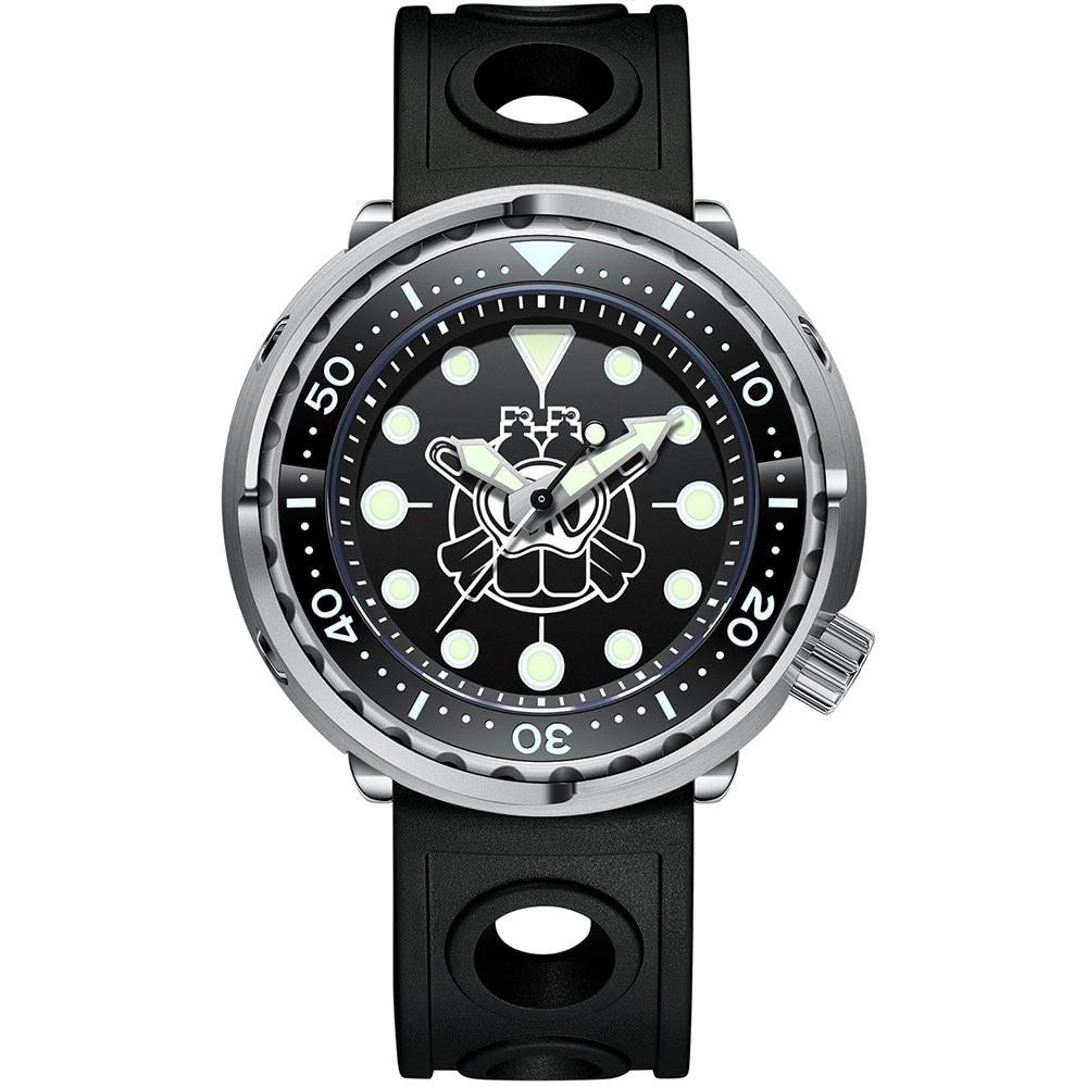 Relógio de Pulso 300m à Prova Steeldive Luxo Masculino Relógios Automáticos Dwaterproof Água Nh35 Movimento Mecânico Moldura Cerâmica Safira Completa Luminosa