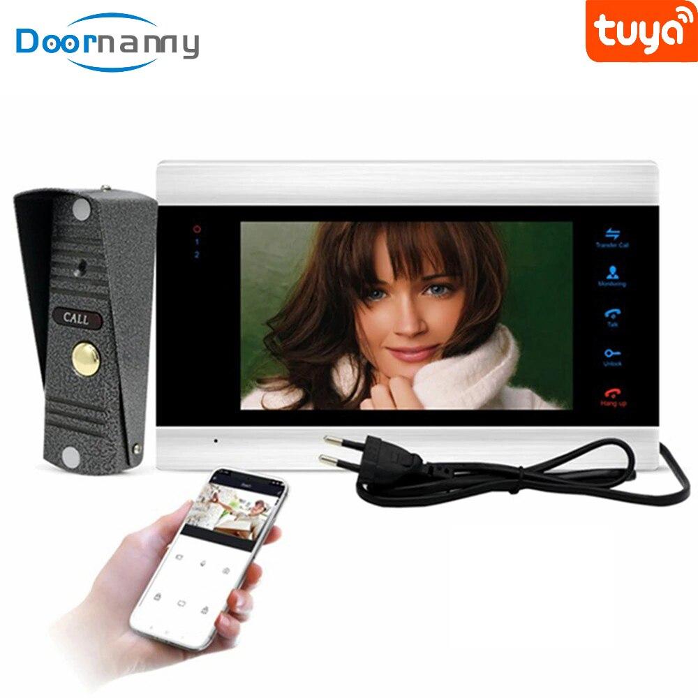 Doornanny Smart WIFI Video Intercom For Home Apartment Video Eye Wireless Video Call Doorbell Monitor Call Panel Kit Recording