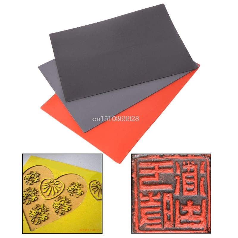 1pc Laser Rubber Sheet Oil Abrasion Resistance Precise Printing Engraving Sealer Stamp A4 Size 297 x 211 x 2.3mm