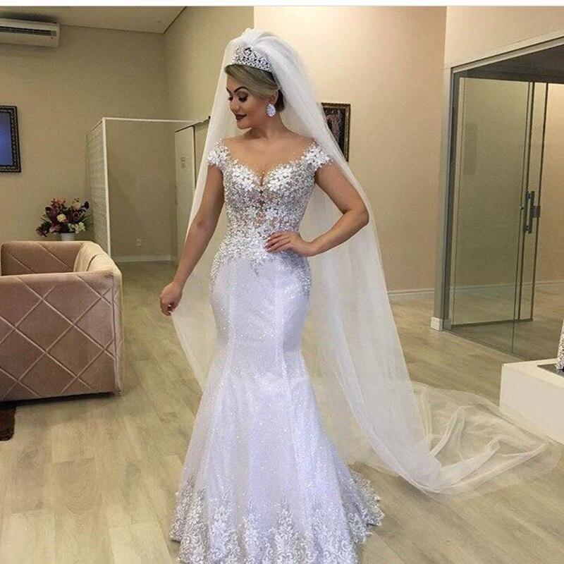 Mermaid Wedding Dress With Shinning Tulle ,Bride Dress,Bridal Gown Dresses For Bride Superbweddingdress