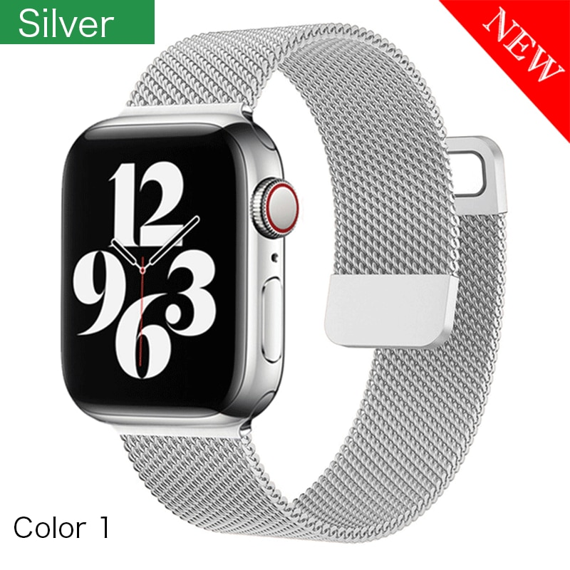 for apple watch band 6 se 5 4 38 42mm stainless steel strap for iwatch loop 40 44mm for apple bands 3 2 1 sport watches bracelet Magnetic Loop strap For Apple watch band 44mm 40mm iWatch Band 38mm 42mm Stainless steel bracelet Apple watch seri es 5 4 3 se 6