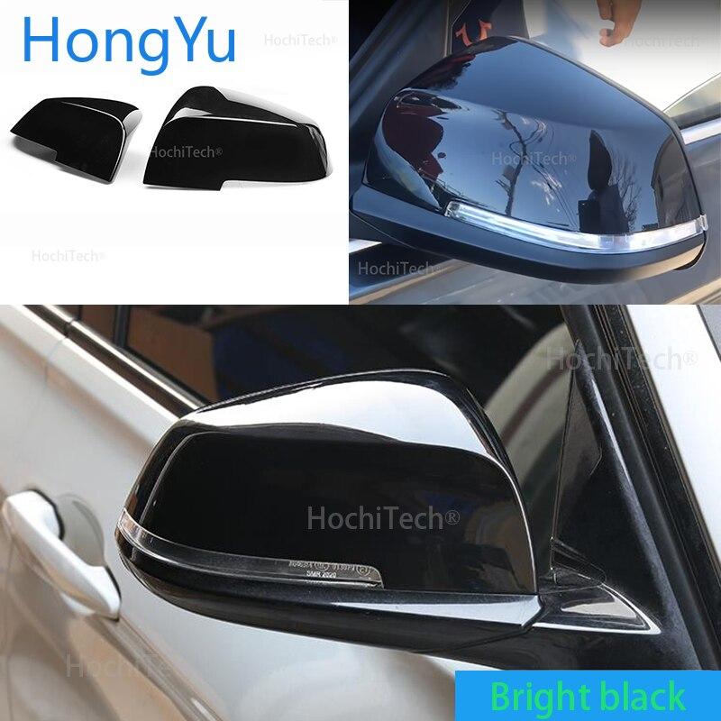 Reemplaza la cubierta original del espejo retrovisor del coche, cubierta negra brillante de alta calidad para BMW 3 Series F30 F31 Sedan & Touring