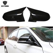 Couvercle de rétroviseur noir brillant   Pour BMW 1 2 3 4 X série, Fiber de carbone F20 F21 F22 F23 F30 F31 F32 F33 F36 X1 E84 M3 M4 Look