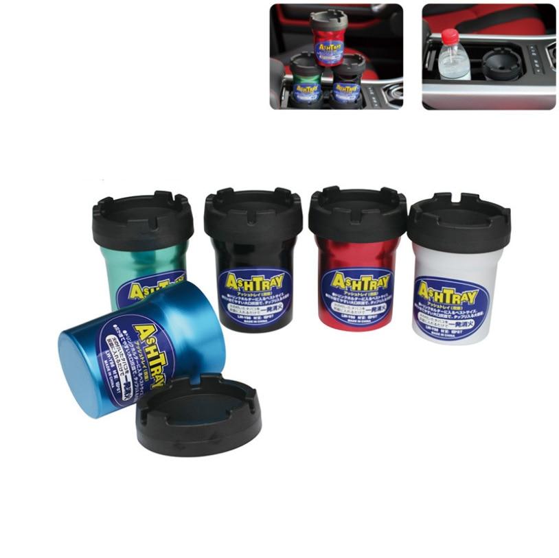 1pcs New Product Portable Car Ashtray For multi-Function Vehicles, Aluminum Oxide Barrel Ashtray, Cigarette Accessories enlarge