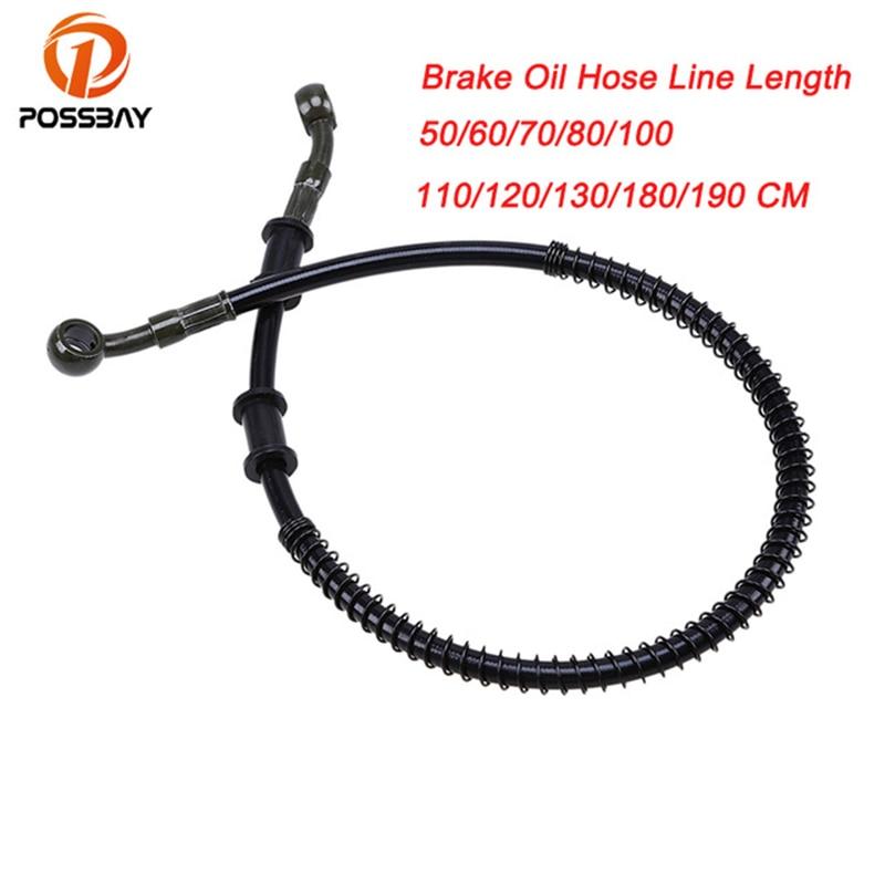 POSSBAY 500mm-1900mm Universal Motorcycle Brake Oil Hose Line Pipe Reinforced Brake System for Suzuki Honda Yamaha Ducati MTB